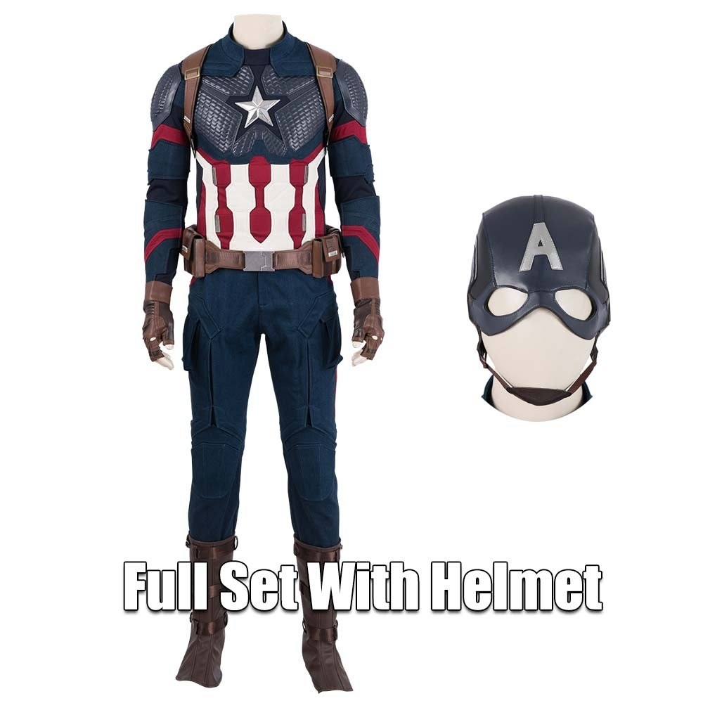 64bd2fc947e6a Captain America Cosplay Costume Avengers Endgame Cosplay xzw190226