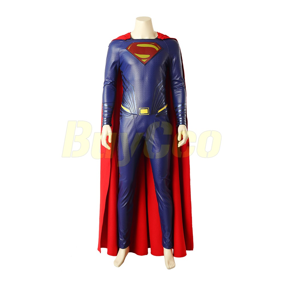 Justice League Superman Clark Kent Cosplay Leather Boots Shoes Custom Made
