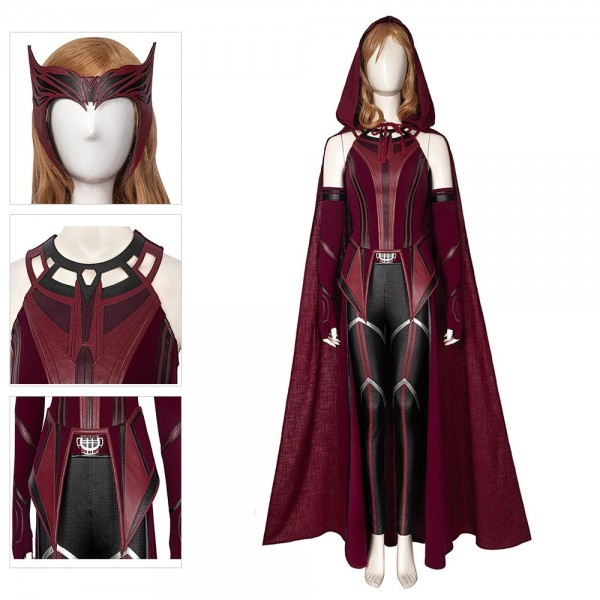 2021 Wanda Cosplay Costume WandaVision New Scarlet Witch Cosplay Suit