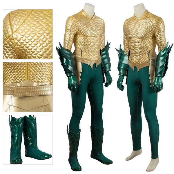 Aquaman Cosplay Costume Arthur Curry King of Atlantis Suit