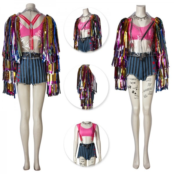 Birds of Prey Harley Quinn Cosplay Costume Deluxe Edition