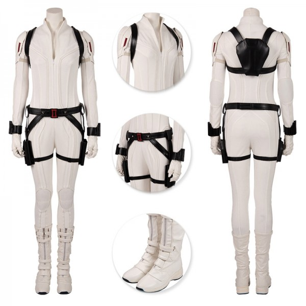 Black Widow Cosplay Costumes 2020 Black Widow White Suits