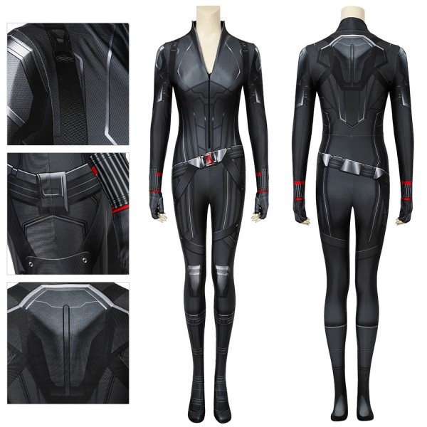 Black Widow Halloween Cosplay Costumes Spandex Printed Suit