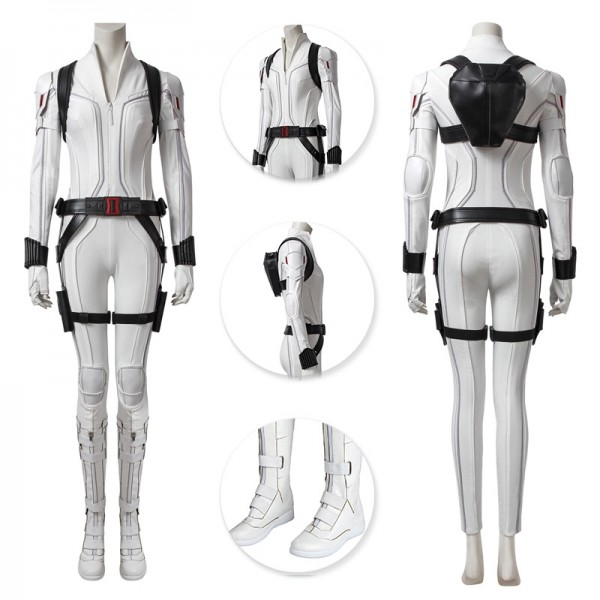 Black Widow White Suit 2020 The Black Widow Cosplay Costume Deluxe