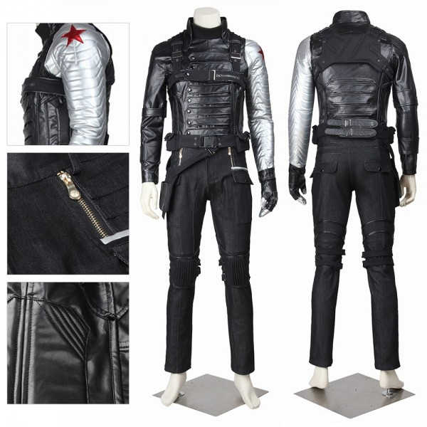 Bucky Barnes Cosplay Costume Winter Soldier Battle Suit