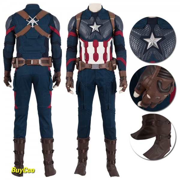 Captain America Cosplay Costume Avengers Endgame Cosplay xzw190226