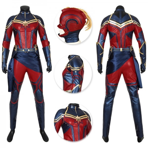 Captain Marvel Suit High Detail Endgame Cosplay Outfits Wjt4447
