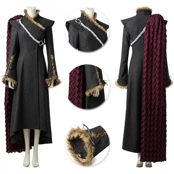 Daenerys Targaryen Cosplay Suit Game of Thrones Outfits Wjt3942