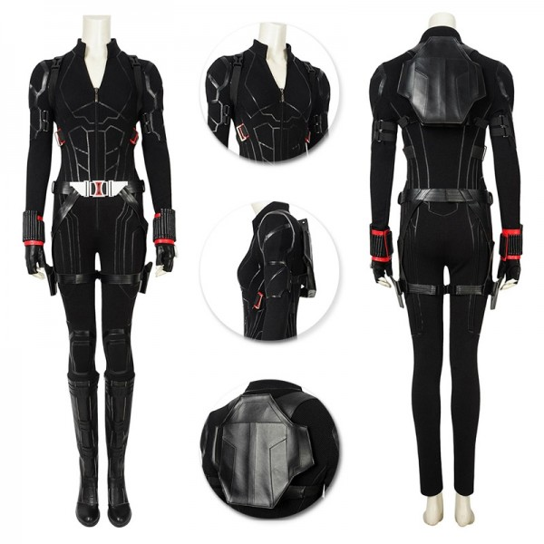 Endgame Black Widow Costume Natasha Romanoff Black Cosplay Suit Wtj19418