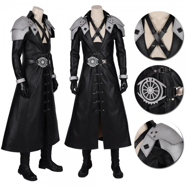 Final Fantasy VII Remake Sephiroth Cosplay Costume Leather Suit Xzw190292