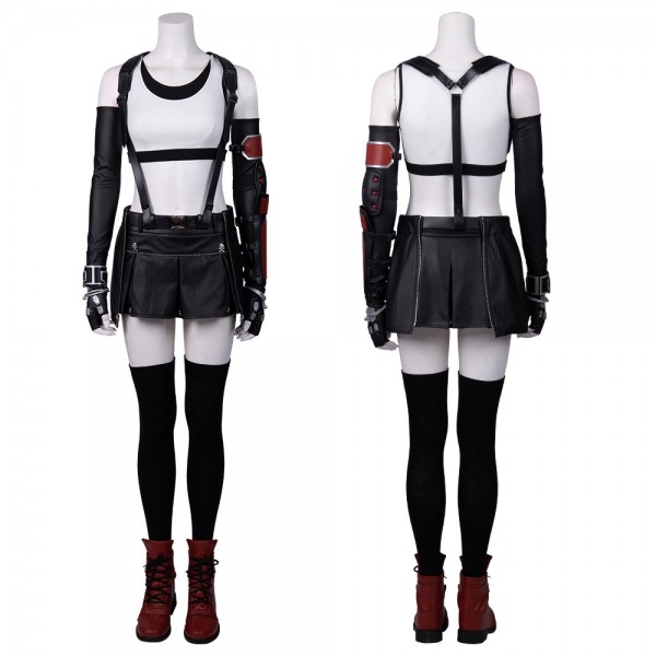 Final Fantasy VII Remake Tifa Cosplay Costumes Classic Suit Xzw190289