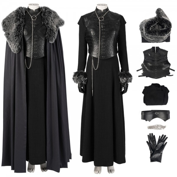 Game Of Thrones Season 8 Sansa Stark Costume Queen In The North Cosplay Xzw190277