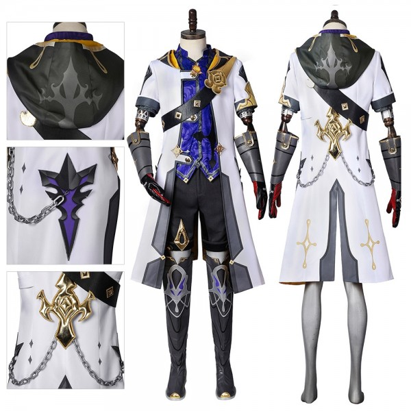 Genshin Impact Cosplay Costume Albedo Costume Dressing Up Suit