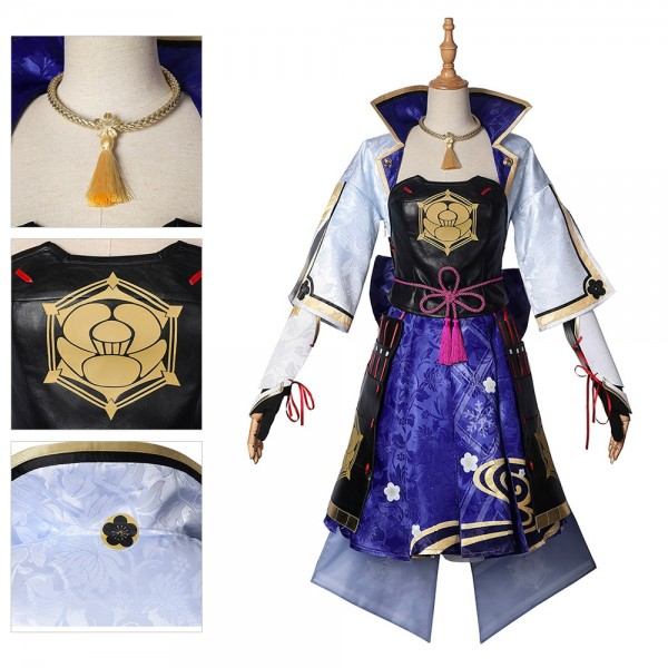 Genshin Impact Cosplay Costume Ayaka Costume Dressing Up Suit