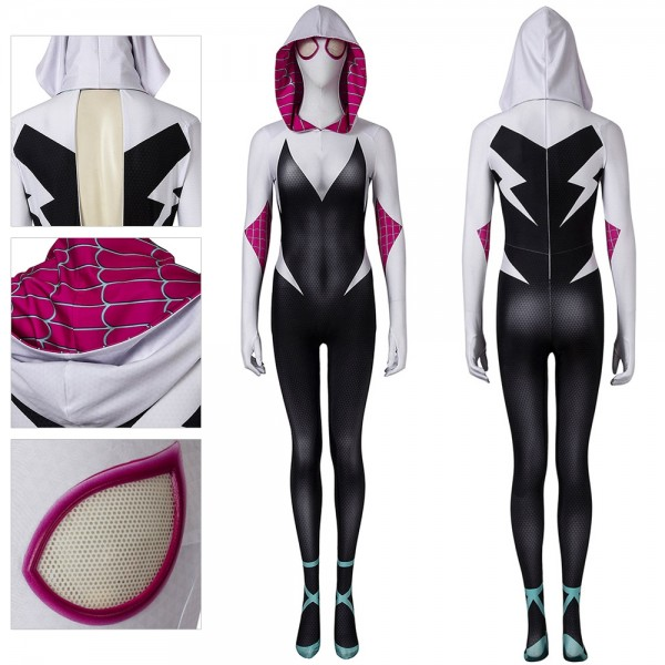 Gwen Cosplay Costume Spider-Man: Into the Spider-Verse Suit