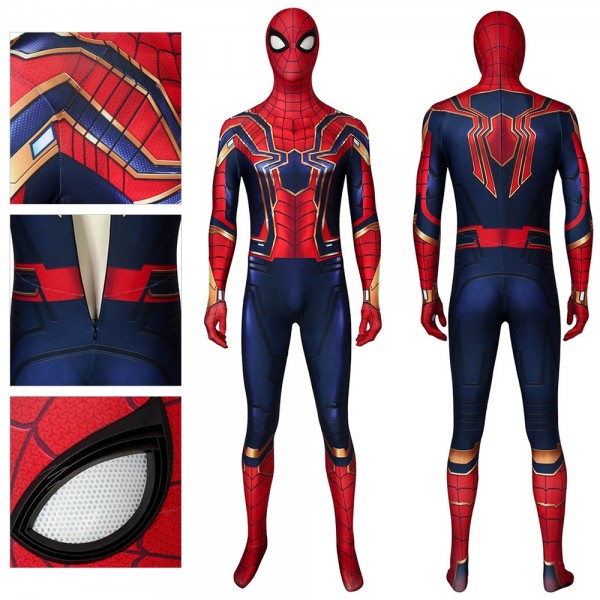Iron Spider-man Ver.2 Suit Endgame Spiderman Cosplay Costume