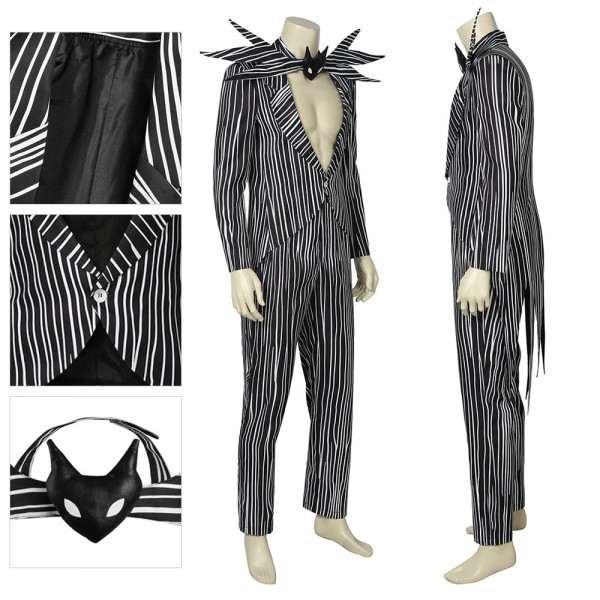 Jack Skellington Cosplay Suit Cotton Fabric Classic Costume