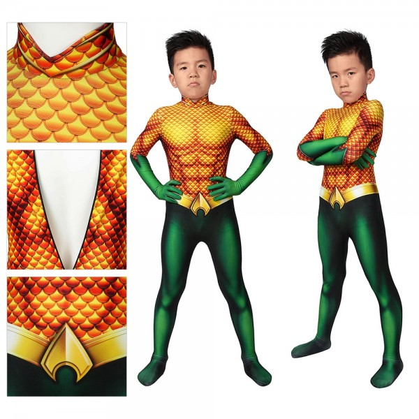 Kids Suit Aquaman Arthur Curry Cosplay Costume
