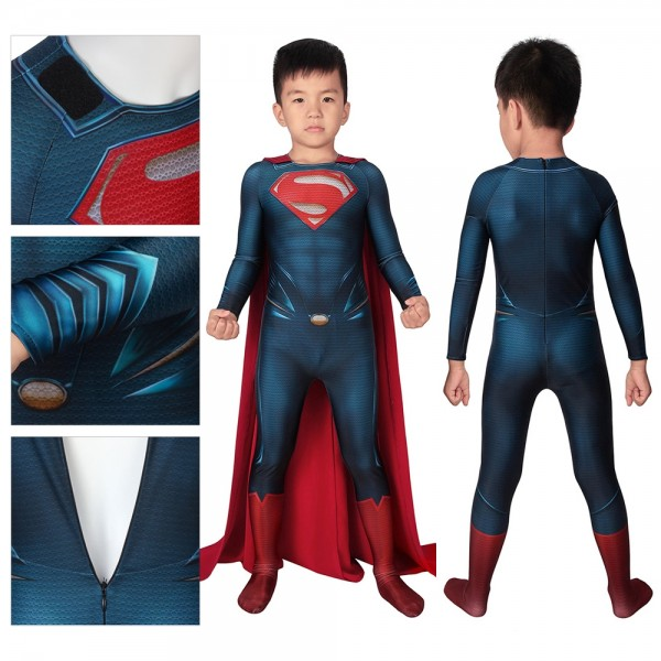 Kids Suit Clark Kent Steel Superman Cosplay Costume