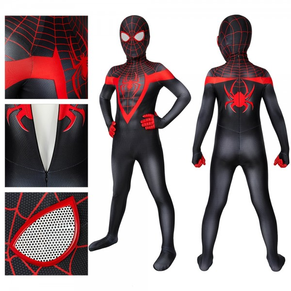 Kids Spider-man Cosplay Suit Miles Morales PS5 Spider-Man Cosplay Costume