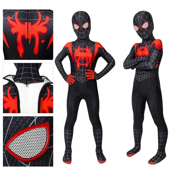 Kids Suit Miles Morales Spider-man Cosplay Costume