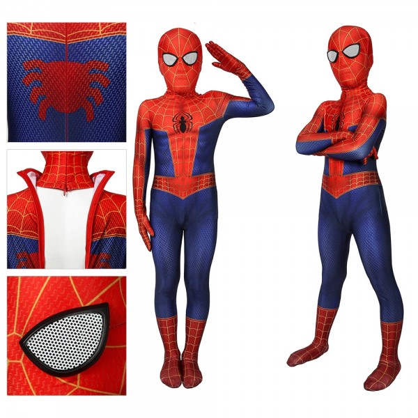 Kids Suit Spider-man Peter Parker Spandex Cosplay Costume