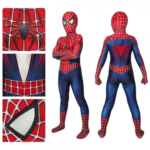 Kids Spider-man Cosplay Suit Tobey Maguire Spider-Man 2 Cosplay Costume For Kids Cosplay