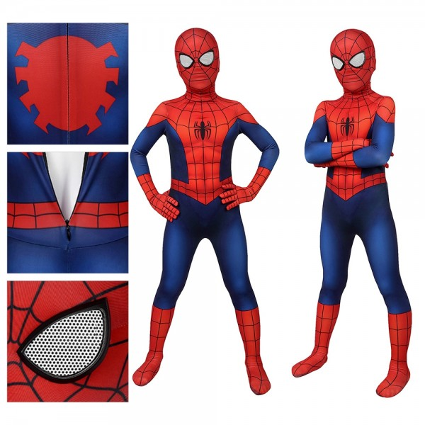 Kids Suit Ultimate Spider-Man Cosplay Costume