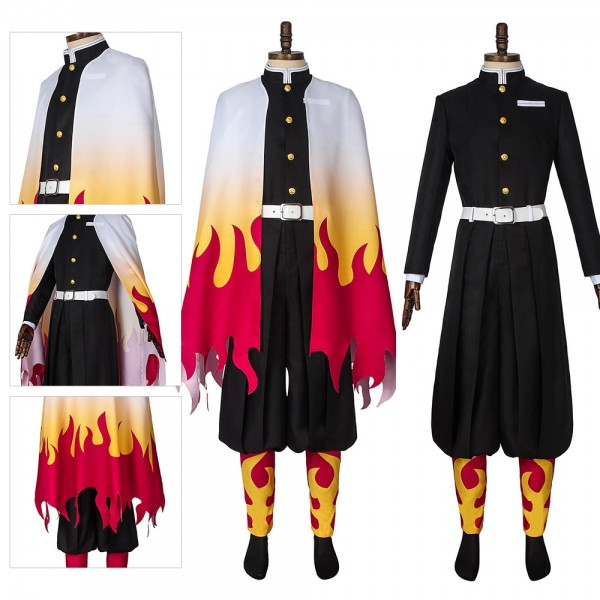 Kyojuro Rengoku Cosplay Costumes Demon Slayer Infinity Train Edition