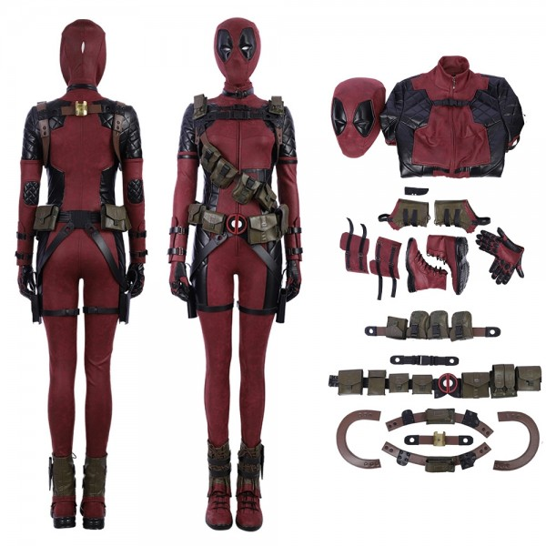 Lady Deadpool Cosplay Costume Deadpool Female Costume xzw180101