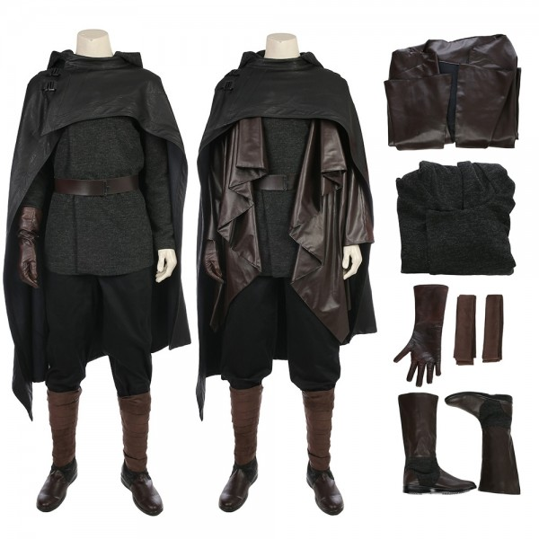 Luke Skywalker Costume Star Wars The Last Jedi Black Costumes