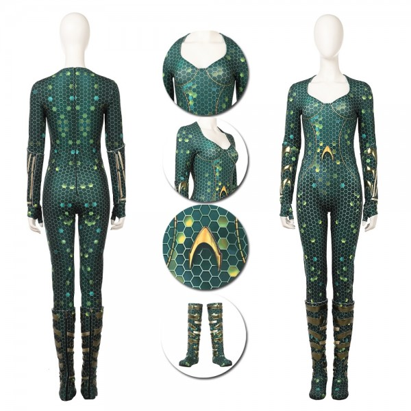 Mera Cosplay Costume 2018 Aquaman Movie Costumes xzw1800169