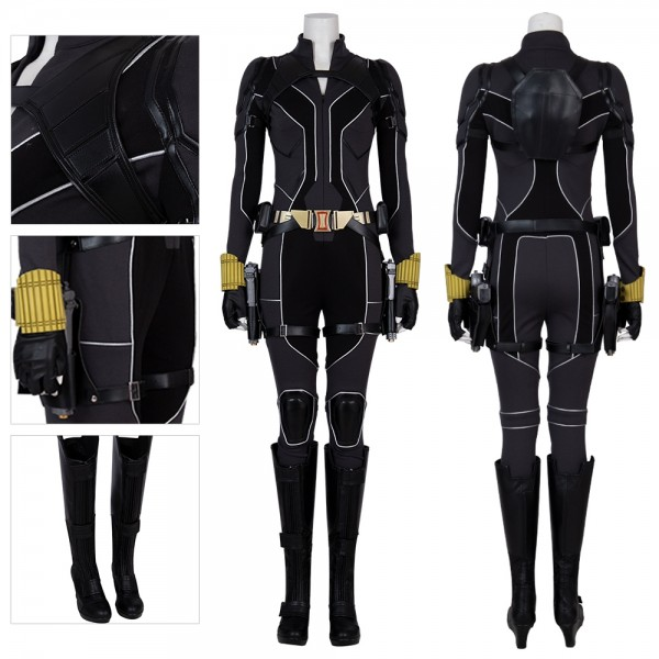 Natasha Romanoff Black Widow 2020 Cosplay Costume Artificial  Leather Top Level Suit