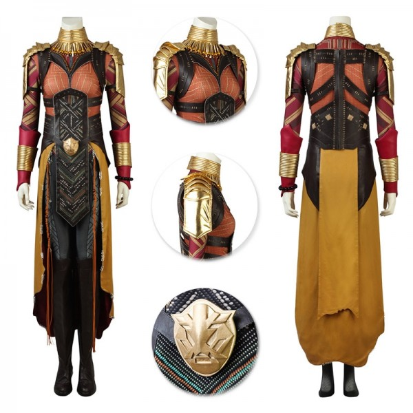 Okoye Suit Black Panther Wakanda General Cosplay Outfits