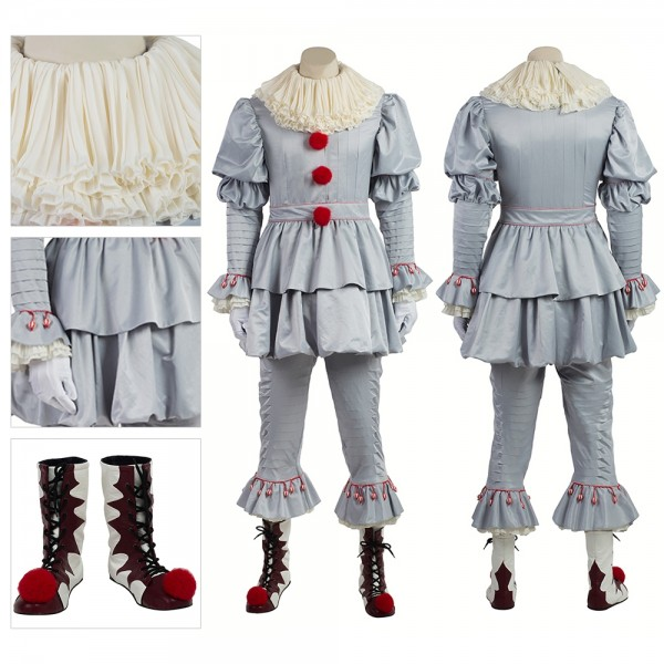 Pennywise Halloween Costume Stephen King's It Cosplay xzw180059