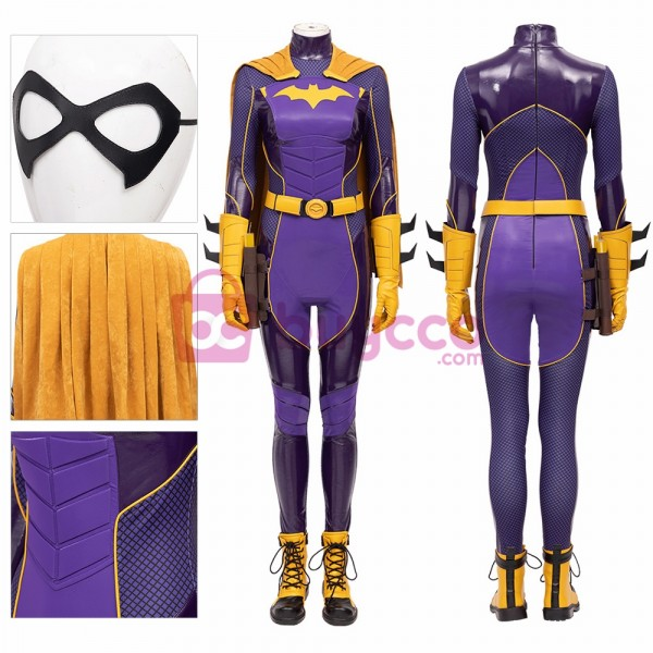 Purple Batgirl Cosplay Costumes Gotham Knights Dress Up Cosplay Suit