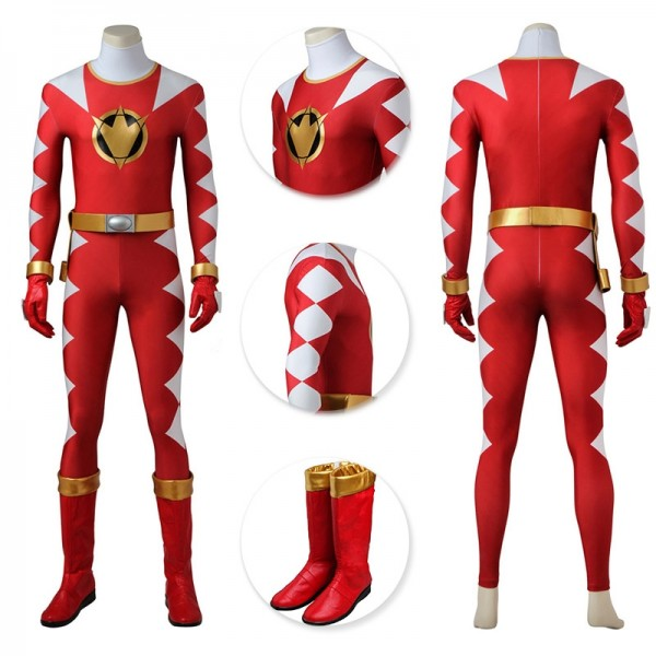 Red Dino Thunder Ranger Cosplay Suit Power Rangers Red Cosplay Costume