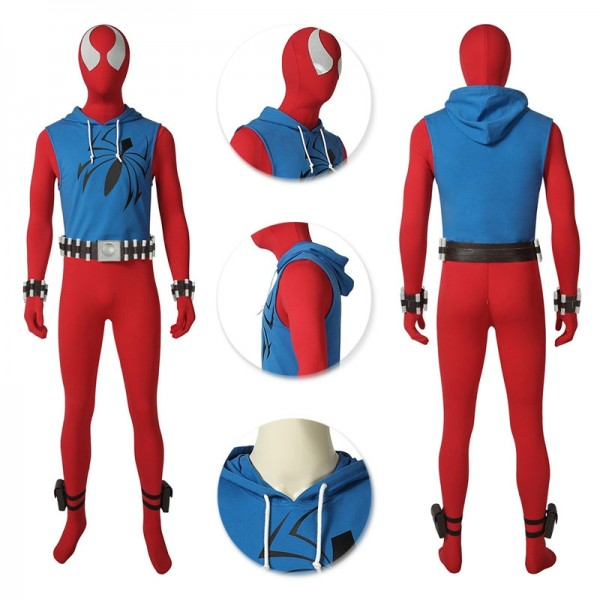 Scarlet Spider Cosplay Suit Ben Reily Spider-man Cosplay