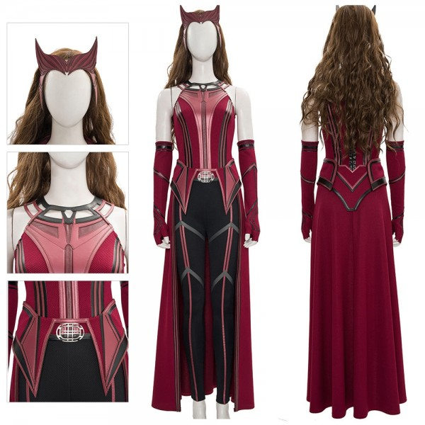 Scarlet Witch 2021 New Cosplay Costume WandaVision Costume Dressing Up Suit