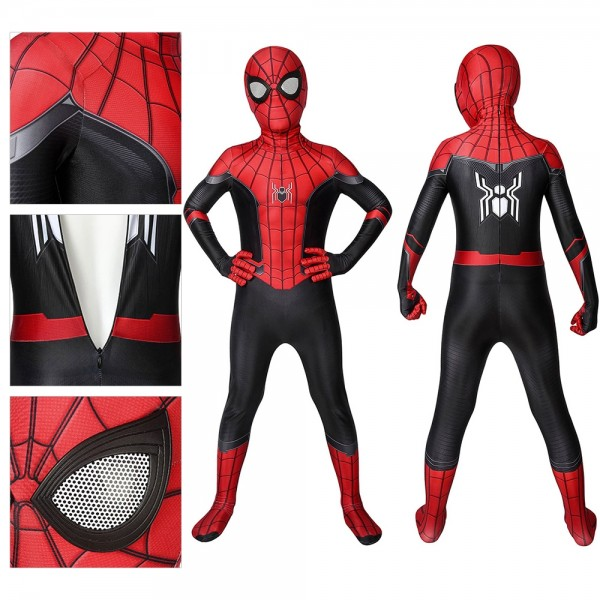 Kids Suit Peter Parker Spider-Man Far From Home Cosplay Costume