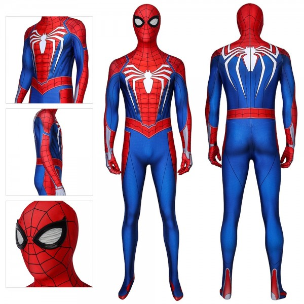 Spider-Man PS4 Advanced Suit Spider Man Spandex Cosplay Costume