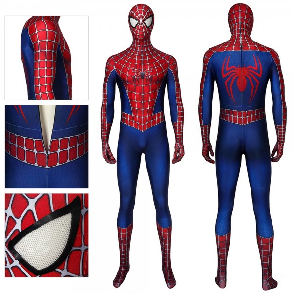 Spider-Man Tobey Maguire Cosplay Costume Classic Spiderman Spandex Suit