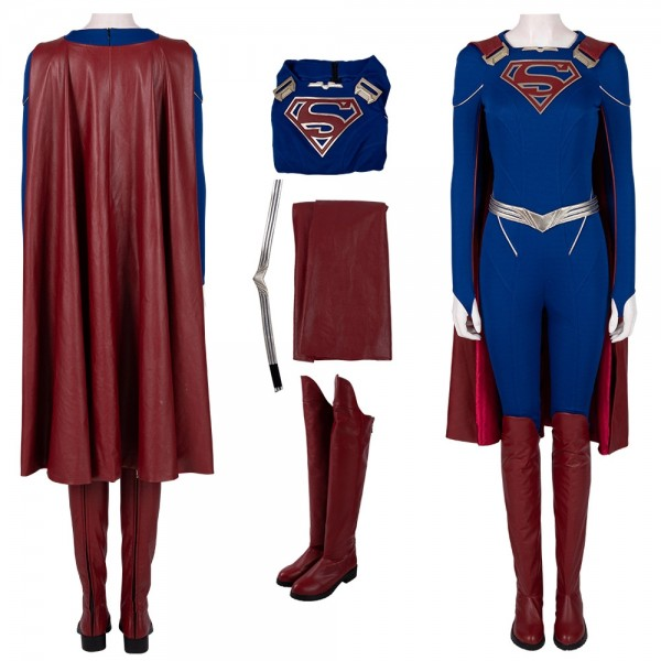 Supergirl Cosplay Costumes Supergirl Season 5 Leather Cosplay Suit Xzw190294