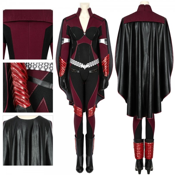 The Boys Season 2 Stormfront Cosplay Costumes Leather Cloak Cosplay Suit