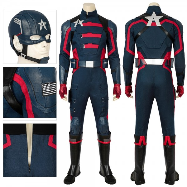 The Falcon and the Winter Soldier Cosplay Costume Captain Dress up Suit