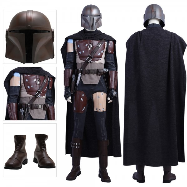The Mandalorian Cosplay Costumes Star Wars Cosplay Leather Suits