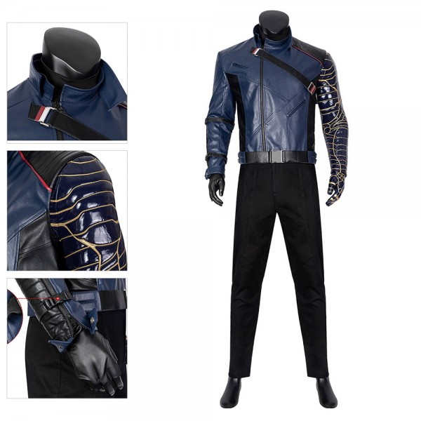 The Winter Soldier Bucky Barnes Cosplay Costume Winter Soldier Cosplay Suit Top Level