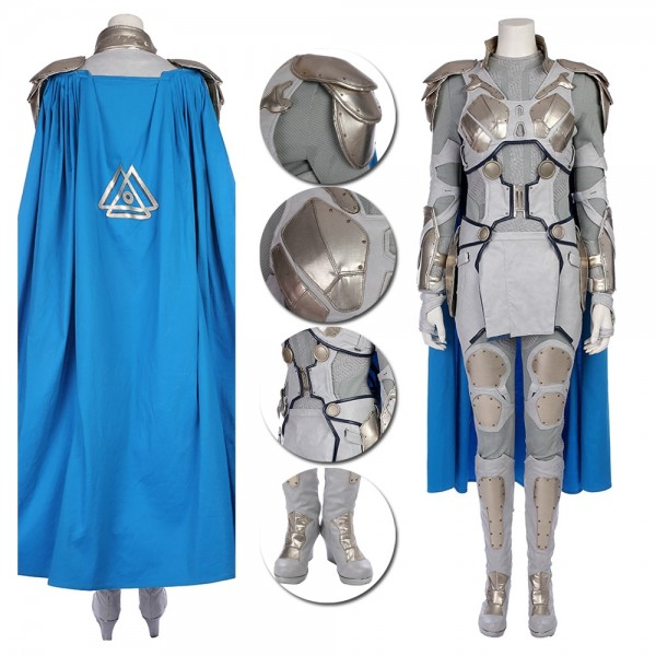 Valkyrie Cosplay Costume Thor Ragnarok White Battle Suit xzw1800133