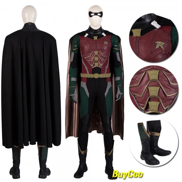 Titans Robin Cosplay Costumes Richard Grayson Robin Suit xzw190269