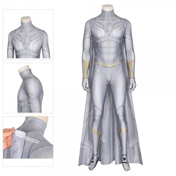 WandaVision Cosplay Costume White Vision Spandex Cosplay Suit